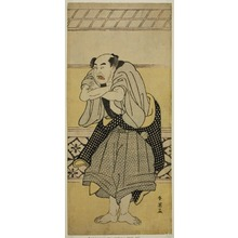 勝川春英: The Actor Asao Tamejuro I as Drunken Gotobei in the Play Yoshitsune Koshigoe Jo, Performed at the Ichimura Theater in the Ninth Month, 1790 - シカゴ美術館
