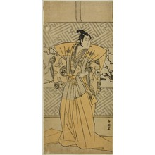 勝川春英: The Actor Iwai Hanshiro IV as Soga no Goro Tokimune in the Play Koi no Yosuga Kanegaki Soga, Performed at the Ichimura Theater in the First Month, 1789 - シカゴ美術館