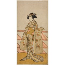 Katsukawa Shunsho: The Actor Yoshizawa Iroha I as Tamamo no Mae (?) in the Play Sakuya Kono Hana no Kaomise (?), Performed at the Nakamura Theater (?) in the Eleventh Month, 1776 (?) - Art Institute of Chicago