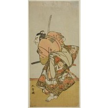 勝川春章: The Actor Nakamura Nakazo I as Chinzei Hachiro Tametomo in the Play Hana-zumo Genji Hiiki, Performed at the Nakamura Theater in the Eleventh Month, 1775 - シカゴ美術館