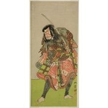 勝川春章: The Actor Nakamura Tomijuro I as Akushichibyoe Kagekiyo in the Play Kite Hajime Hatsugai Soga, Performed at the Morita Theater in the First Month, 1774 - シカゴ美術館