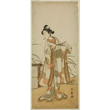 Katsukawa Shunsho: The Actor Segawa Kikunojo III as Aigo no Waka in the Play Chigo Sakura Jusan Kane, Performed at the Ichimura Theater in the Eleventh Month, 1774 - Art Institute of Chicago