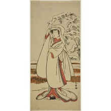 Katsukawa Shunsho: The Actor Segawa Tomisaburo I as the Heron Maiden (Sagi Musume) - Art Institute of Chicago