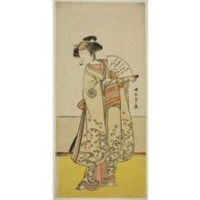 Katsukawa Shunsho: The Actor Nakamura Noshio I as Oiso no Tora (?) in the Play Shida Yuzuriha Horai Soga (?), Performed at the Morita Theater (?) in the First Month, 1775 (?) - Art Institute of Chicago