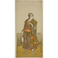勝川春章: The Actor Ichimura Uzaemon IX as the Potter Tsuchihei in the Play Higashiyama Momiji no Kadode, Performed at the Ichimura Theater in the Ninth Month, 1778 - シカゴ美術館