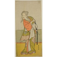 Katsukawa Shunsho: The Actor Nakajima Kanzaemon III as Yaguchi no Karasu-baba in the Play Hono Nitta Daimyojin, Performed at the Morita Theater in the Seventh Month, 1777 - Art Institute of Chicago
