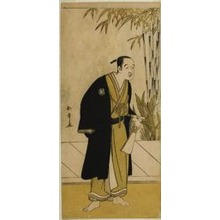 Katsukawa Shunsho: The Actor Otani Tomoemon I as Kajino Choan (?) in the Play Hono Nitta Daimyojin (?), Performed at the Morita Theater (?) in the Seventh Month, 1777 - Art Institute of Chicago