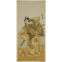 Katsukawa Shunsho: The Actor Nakamura Nakazo I as Kudo Sukestune (?) in the Play Kokimazete Takao Soga (?), Performed at the Ichimura Theater (?) in the Second Month, 1778 - Art Institute of Chicago