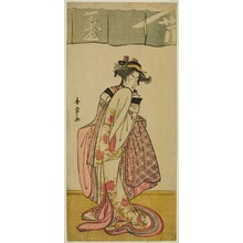 Katsukawa Shunjô: The Actor Segawa Kikunojo III as Shinanoya Ohan in the Play Kabuki no Hana Bandai Soga, Performed at the Ichimura Theater in the Third Month, 1781 - シカゴ美術館