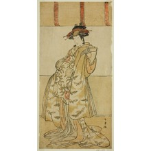 Katsukawa Shunjô: The Actor Yamashita Mangiku I as Kewaizaka no Shosho in the Play Nanakusa Yosooi Soga, Performed at the Nakamura Theater in the First Month, 1782 - シカゴ美術館