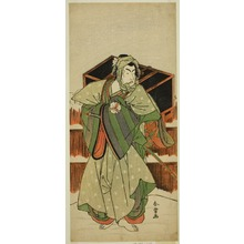 Katsukawa Shunjô: The Actor Matusmto Koshiro IV as Ise no Saburo Disguised as Mizoro no Sabu in the Play Mure Takamatsu Yuki no Shirahata, Performed at the Ichimura Theater in the Eleventh Month, 1780 - シカゴ美術館