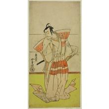 勝川春童: The Actor Nakamura Nakazo I as Kudo Suketsune in the Play Edo no Fuji Wakayagi Soga, Performed at the Nakamura Theater in the First Month, 1789 - シカゴ美術館