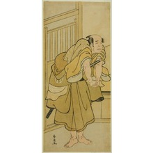 勝川春扇: The Actor Asao Tamejuro I as Drunken Gotobei in the Play Yoshitsune Koshigoe Jo, Performed at the Ichimura Theater in the Ninth Month, 1790 - シカゴ美術館