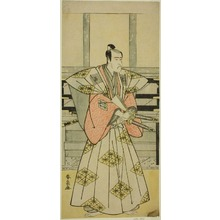 勝川春扇: The Actor Ichikawa Komazo III as Fuji Sakon (?) in the Play Egara Tenjin Risho Kagami (?), Performed at the Nakamura Theater (?) in the Third Month, 1789 (?) - シカゴ美術館