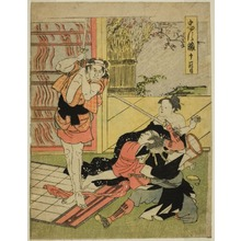 勝川春英: Act Eleven: Night Raid on Moronao's Mansion from the play Chushingura (Treasury of Forty-seven Loyal Retainers) - シカゴ美術館