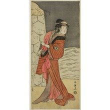 Katsukawa Shun'ei: The Actor Iwai Hanshiro IV as Yaegushi no Oroku (?) in the Play Keisei Kogane no Hakarime (?), Performed at the Kawarazaki Theater (?) in the Third Month, 1792 (?) - Art Institute of Chicago