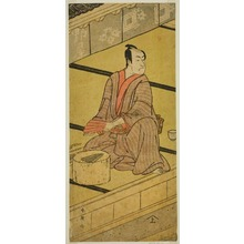 Katsukawa Shun'ei: The Actor Ichikawa Monnosuke II as Daidoji Tabatanosuke in the Play Mukashi Mukashi Tejiro no Saru, Performed at the Ichimura Theater in the Eighth Month, 1792 - Art Institute of Chicago