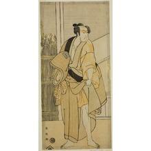 Katsukawa Shun'ei: The Actor Ichikawa Monnosuke II as Hiranoya Tokubei (?) in the Play Waka Murasaki Edokko Soga (?), Performed at the Ichimura Theater (?) in the Third Month, 1792 (?) - Art Institute of Chicago