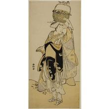 勝川春好: The Actor Ichikawa Yaozo III as Shiragiku in the Dance Sequence