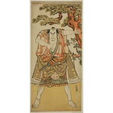 Katsukawa Shunko: The Actor Nakamura Nakazo I as the Yakko Nakahei Disguised as Miura Arajiro (?) from the Play Ise Heishi Eigo no Koyomi (?), Performed at the Ichimura Theater (?) in the Eleventh Month, 1782 (?) - Art Institute of Chicago