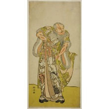 勝川春好: The Actor Sakata Hangoro II as Hige no Ikyu in the Play Shida Yakata Yotsugi no Hikibune, Performed at the Ichimura Theater in the Fifth Month, 1782 - シカゴ美術館