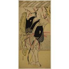 Katsukawa Shunko: The Actor Onoe Matsusuke I as Yawata no Saburo (?) in the Play Edo no Hana Mimasu Soga (?), Performed at the Nakamura Theater (?) in the First Month, 1783 (?) - Art Institute of Chicago