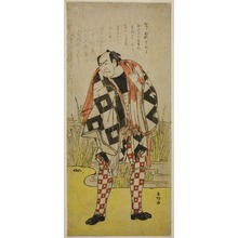 勝川春好: The Actor Nakamura Nakazo I as Dozaemon Denkichi in the Play Yaoya Oshichi, Performed at the Kiri Theater in the Fourth Month, 1785 - シカゴ美術館