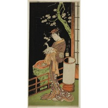 Ippitsusai Buncho: The Actor Segawa Kikunojo II as Oiso no Tora in the Play Soga Moyo Aigo no Wakamatsu, Performed at the Nakamura Theater in the First Month, 1769 - Art Institute of Chicago