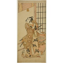 Ippitsusai Buncho: The Actor Sawamura Sojuro II as Kudo Suketsune (?) in the Play Edo no Hana Wakayagi Soga (?), Performed at the Ichimura Theater (?) in the Second Month, 1769 (?) - Art Institute of Chicago