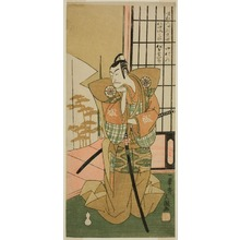 Ippitsusai Buncho: The Actor Matsumoto Koshiro III as Akita Jonosuke in the Play Kawaranu Hanasakae Hachi no Ki, Performed at the Nakamura Theater in the Eleventh Month, 1769 - Art Institute of Chicago