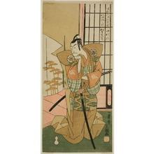 一筆斉文調: The Actor Matsumoto Koshiro III as Akita Jonosuke in the Play Kawaranu Hanasakae Hachi no Ki, Performed at the Nakamura Theater in the Eleventh Month, 1769 - シカゴ美術館