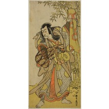 勝川春好: The Actor Ichikawa Danjuro V as Kazusa no Akushichibyoe Kagekiyo Disguised as a Blind Court Musician (Kengyo) in the Play Edo Meisho Midori Soga, Performed at the Morita Theater in the Fourth Month, 1779 - シカゴ美術館