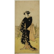 Katsukawa Shunko: The Actor Segawa Kikunojo III as Oshichi in the Play Junshoku Edo Murasaki, Performed at the Ichimura Theater in the First Month, 1779 - Art Institute of Chicago