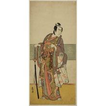 勝川春好: The Actor Ichikawa Monnosuke II in an Unidentified Role - シカゴ美術館