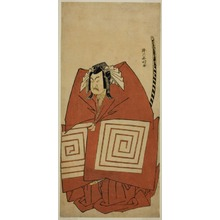 勝川春好: The Actor Ichimura Uzaemon IX as Araoka Hachiro in the Play Sakimasu ya Ume no Kachidoki, Performed at the Ichimura Theater in the Eleventh Month, 1778 - シカゴ美術館