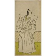 勝川春好: The Actor Ichikawa Danjuro V as Enya Hangan (?) in the Play Kanadehon Chushin Nagori no Kura (?), Performed at the Nakamura Theater (?) in the Ninth Month, 1780 (?) - シカゴ美術館