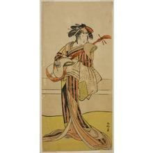 勝川春好: The Actor Yamashita Mangiku I as Osan in the Play Kitekaeru Nishiki no Wakayaka, Performed at the Nakamura Theater in the Eleventh Month, 1780 - シカゴ美術館