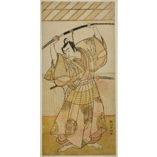 勝川春好: The Actor Ichikawa Danjuro V as Taira no Munekiyo (?) from the Play Kitekaeru Nishiki no Wakayaka (?), Performed at the Nakamura Theater (?) in the Eleventh Month, 1780 (?) - シカゴ美術館