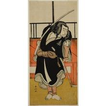 Katsukawa Shunko: The Actor Nakamura Nakazo I as Aso no Matsuwaka (?) in the Play Iro Moyo Aoyagi Soga (?), Performed at the Nakamura Theater (?) in the Second Month, 1775 (?) - Art Institute of Chicago