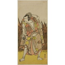 勝川春好: The Actor Nakamura Nakazo I as Hachiman Taro Yoshiie (?) in the Play Oshu Adachi ga Hara (?), Performed at the Nakamura Theater (?) in the Fourth Month, 1775 (?) - シカゴ美術館