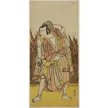 Katsukawa Shunko: The Actor Nakamura Nakazo I as Hachiman Taro Yoshiie (?) in the Play Oshu Adachi ga Hara (?), Performed at the Nakamura Theater (?) in the Fourth Month, 1775 (?) - Art Institute of Chicago