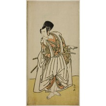 Katsukawa Shunko: The Actor Ichikawa Yaozo II as Sakura-maru in the Play Sugawara Denju Tenarai Kagami, Performed at the Ichimura Theater in the Seventh Month, 1776 - Art Institute of Chicago
