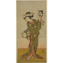 勝川春好: The Actor Yamashita Kinsaku II in an Unidentified Role - シカゴ美術館