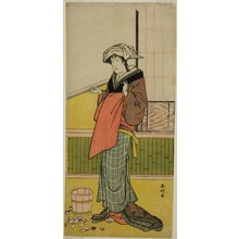 Katsukawa Shunko: The Actor Nakamura Riko I as Moshio (?) in the Play Honda Yayoi Meoto Junrei (?), Performed at the Ichimura Theater (?) in the Seventh Month, 1778 (?) - Art Institute of Chicago