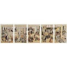 Katsushika Hokusai: New Year's Day at Ôgi-ya brothel - Art Institute of Chicago