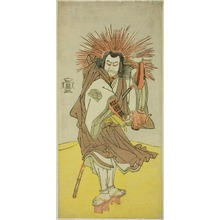Katsukawa Shunsho: The Actor Nakayama Kojuro VI as Osada no Taro Kagemune (in Reality Hatcho Tsubute no Kiheiji), in the Guise of a Lamplighter of Gion Shrine, in Act Three from Part One of the Play Yukimotsu Take Furisode Genji (Snow-Covered Bamboo: Genji in Long Sleeves), Performed at the Nakamura Theater from the First Day of the Eleventh Month, 1785 - Art Institute of Chicago
