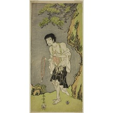 勝川春章: The Actor Nakamura Nakazo I as a Monk, Raigo Ajari, in the Play Nue no Mori Ichiyo no Mato (Forest of the Nue Monster: Target of the Eleventh Month), Performed at the Nakamura Theater from the First Day of the Eleventh Month, 1770 - シカゴ美術館