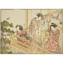 Katsukawa Shunsho: Women of the Chojiya House of Pleasure (Early Summer) - Art Institute of Chicago