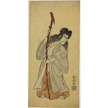 Katsukawa Shunsho: The Actor Ichikawa Danjuro IV in the Role of an Immortal Hermit (Sennin), Possibly Tenjiku Tokubei in the Play Tenjiku Tokubei Kokyo no Torikaji (Tenjiku Tokubei Turns the Helm Toward Home), Performed at the Nakamura Theater in the Eighth Month, 1768 - Art Institute of Chicago
