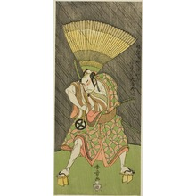 Katsukawa Shunsho: The Actor Otani Hiroji III, Probably as Ukishima Daihachi in the Play Shinasadame Soma no Mombi (Comparing Merits: Festival Day at Soma), Performed at the Ichimura Theater from the Twenty-third day of the Seventh Month, 1770 - Art Institute of Chicago
